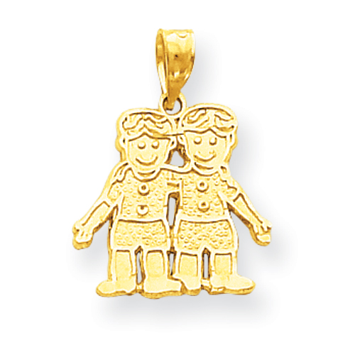14k co. 10k Solid Two Boys Charm, Best Quality Free Gift Box Satisfaction Guaranteed at Sears.com