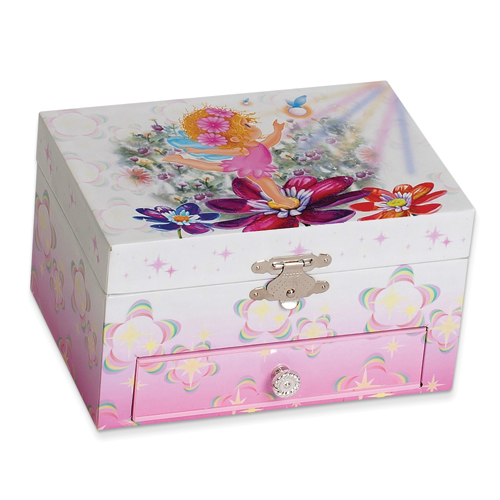 14k.co Childrens Butterfly Ballerina Jewelry Box