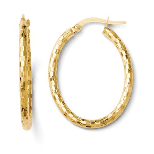14k.co Leslies 14k Textured Oval Hoop Earrings at Sears.com