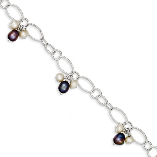 14k co. Sterling Silver Freshwater Cultured Pearl Bracelet, Best Quality Free Gift Box Satisfaction Guaranteed at Sears.com