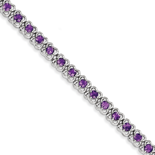 14k co. Sterling Silver Amethyst Bracelet, Best Quality Free Gift Box Satisfaction Guaranteed at Sears.com