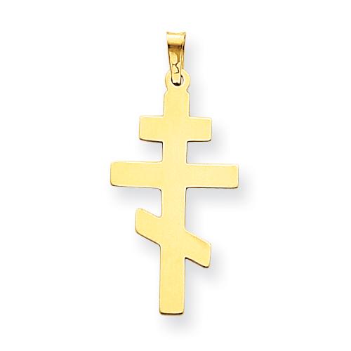 14k co. 14k Eastern Orthodox Cross Pendant, Best Quality Free Gift Box Satisfaction Guaranteed