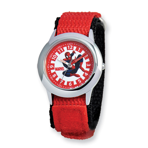 14k.co Marvel Spiderman Red Velcro Band Time Teacher Watch at Sears.com