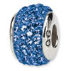 Reflection Beads Sterling Silver  Blue Full Swarovski Elements Bead
