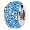 Reflection Beads Sterling Silver  Light Blue Full Swarovski Elements Bead