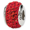 Reflection Beads Sterling Silver  Red Full Swarovski Elements Bead