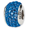 Reflection Beads Sterling Silver  Medium Blue Full Swarovski Elements Bead