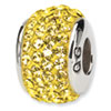 Reflection Beads Sterling Silver  Gold Full Swarovski Elements Bead