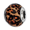 Reflection Beads Sterling Silver Brown Jaguar Glitter Italian Murano Glass Bead