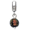 Reflection Beads Sterling Silver Orange Dichroic Glass Dangle Bead