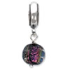 Reflection Beads Sterling Silver Purple Dichroic Glass Dangle