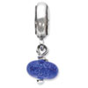 Reflection Beads Sterling Silver Blue Dichoric Glass Dangle