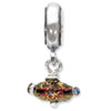 Reflection Beads Sterling Silver Red Dichroic Glass Dangle Bead