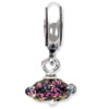 Reflection Beads Sterling Silver Purple Dichroic Glass Dangle Bead