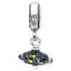 Reflection Beads Sterling Silver Rainbow Dichroic Glass Dangle Bead