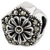 Reflection Beads Sterling Silver Marcasite Flower Bead