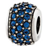 Reflection Beads Sterling Silver Blue Swarovksi Elements Bead