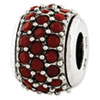 Reflection Beads Sterling Silver Red Swarovski Elements Bead
