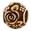 Reflection Beads Sterling Silver Gold-plated Enameled Floral Bead