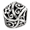 Reflection Beads Sterling Silver Flowers and Vines Bali Bead