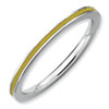Stackable Expressions Sterling Silver Yellow Enameled 1.5mm Ring