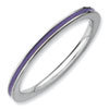 Stackable Expressions Sterling Silver Purple Enameled 1.5mm Ring