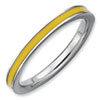 Stackable Expressions Sterling Silver Yellow Enameled 2.25mm Ring