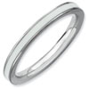 Stackable Expressions Sterling Silver White Enameled 2.25mm Ring