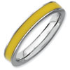 Stackable Expressions Sterling Silver Yellow Enameled 3.25mm Ring
