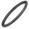 Stackable Expressions Sterling Silver Black-plated Satin Ring