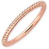 Stackable Expressions Sterling Silver Pink-plated Twisted Ring