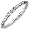 Stackable Expressions Sterling Silver Rhodium Twisted Ring