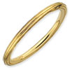 Stackable Expressions Sterling Silver Gold-plated Step-down Ring