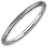 Stackable Expressions Sterling Silver Rhodium Step-down Ring