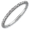 Stackable Expressions Sterling Silver Rhodium Criss-cross Ring