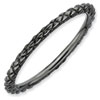 Stackable Expressions Sterling Silver Black-plated Criss-cross Ring