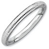 Stackable Expressions Sterling Silver Rhodium Textured Ring