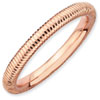 Stackable Expressions Sterling Silver Pink-plated Textured Ring