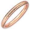 Stackable Expressions Sterling Silver Pink-plated Cable Ring