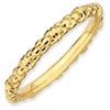 Stackable Expressions Sterling Silver Gold-plated Cable Ring