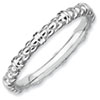 Stackable Expressions Sterling Silver Rhodium Cable Ring