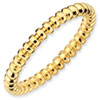Stackable Expressions Sterling Silver Gold-plated Beaded Ring