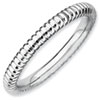 Stackable Expressions Sterling Silver Rhodium Rice Ring