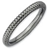 Stackable Expressions Sterling Silver Black-plated Rice Ring