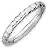 Stackable Expressions Sterling Silver Rhodium Hammered Ring