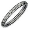 Stackable Expressions Sterling Silver Black-plated Hammered Ring