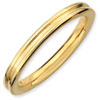 Stackable Expressions Sterling Silver Gold-plated Grooved Ring