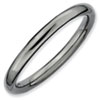 Stackable Expressions Sterling Silver Black-plated Polished Ring