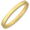 Stackable Expressions Sterling Silver Gold-plated Satin Ring