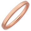 Stackable Expressions Sterling Silver Pink-plated Satin Ring